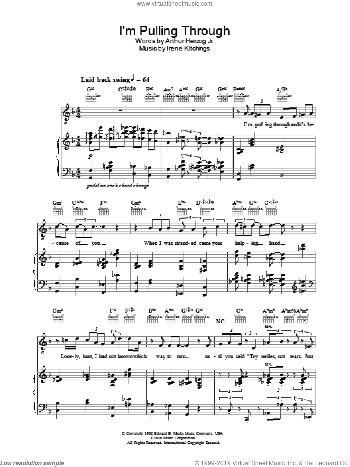 I'm Pulling Through sheet music for voice, piano or guitar by Diana Krall