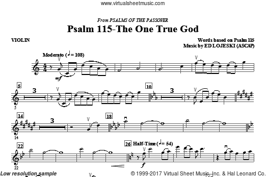 Psalm 115: The One True God (COMPLETE) sheet music for orchestra