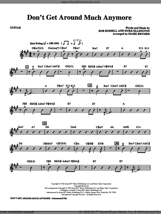 Don't Get Around Much Anymore (COMPLETE) sheet music for orchestra by Bob Russell