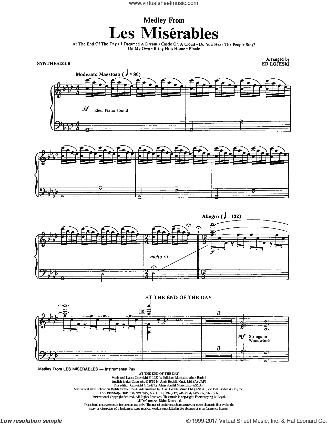 les miserables sheet music pdf
