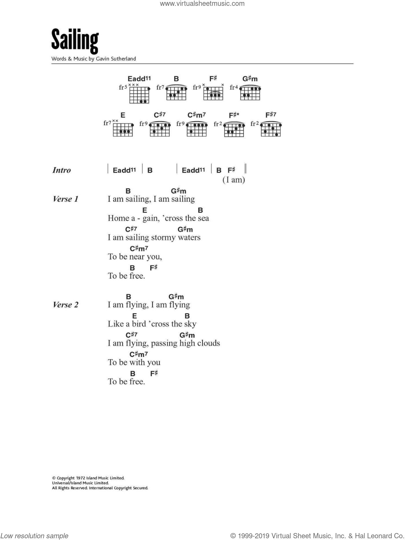 Stewart Sailing Sheet Music For Guitar Chords Pdf