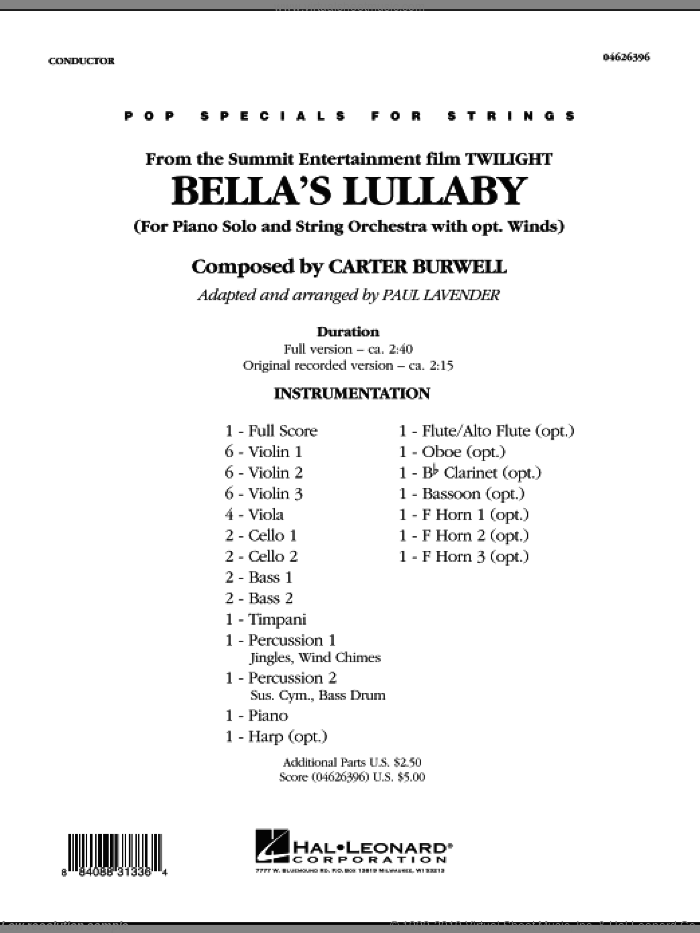 Bella's Lullaby (from