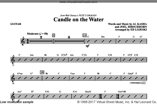 Candle On The Water (COMPLETE) sheet music for orchestra by Al Kasha