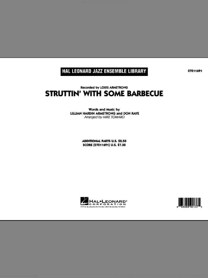 Struttin' with Some Barbecue (COMPLETE) sheet music for jazz band by Don Raye, Lillian Hardin Armstrong, Louis Armstrong and Mike Tomaro, intermediate. Score Image Preview.