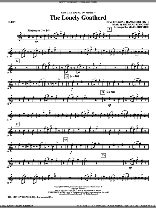 The Lonely Goatherd (COMPLETE) sheet music for orchestra by Oscar II Hammerstein
