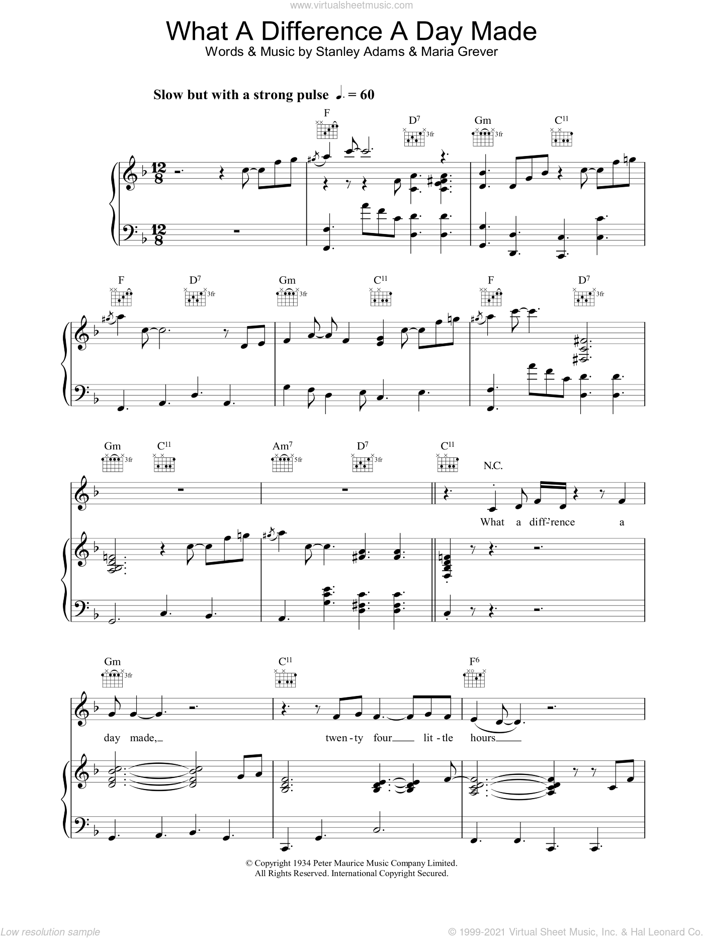 What A Difference A Day Made sheet music for voice, piano or guitar by Jamie Cullum, intermediate skill level