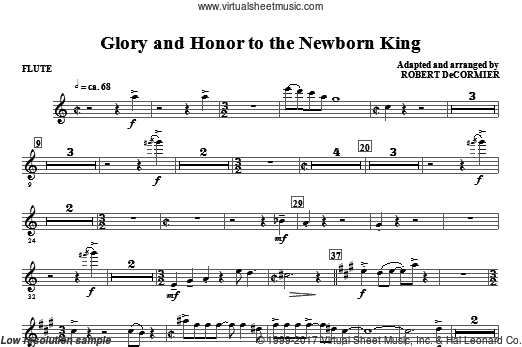 Glory And Honor To The Newborn King (COMPLETE) sheet music for orchestra