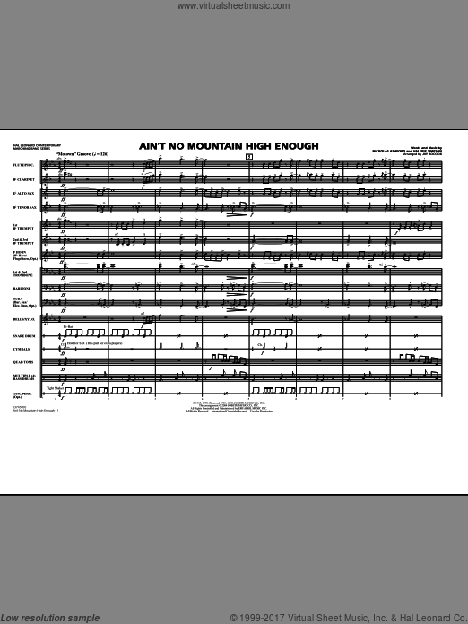 Ain't No Mountain High Enough (COMPLETE) sheet music for marching band by Nickolas Ashford