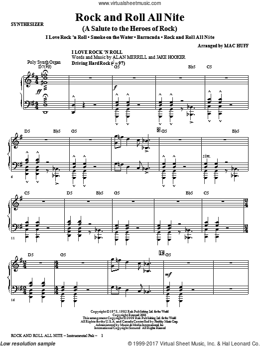 Rock And Roll All Nite (A Salute to The Heroes Of Rock) (COMPLETE) sheet music for orchestra by Mac Huff