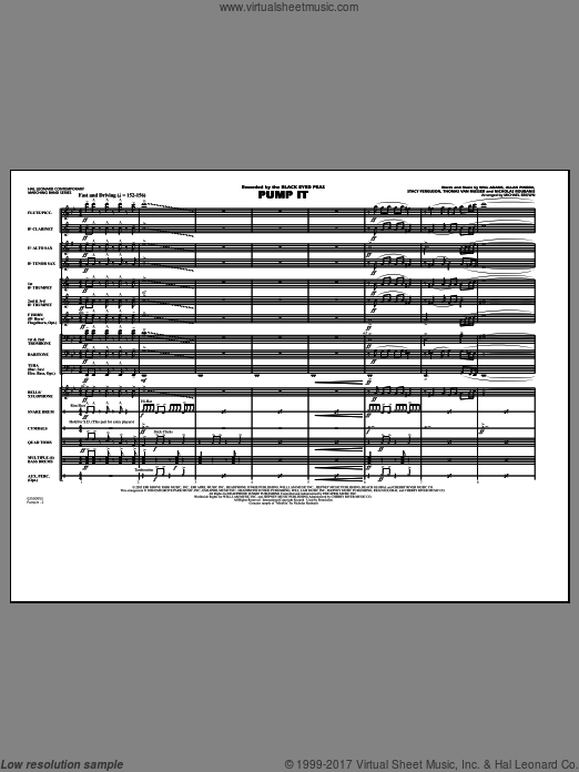 Pump It (COMPLETE) sheet music for marching band by Allan Pineda