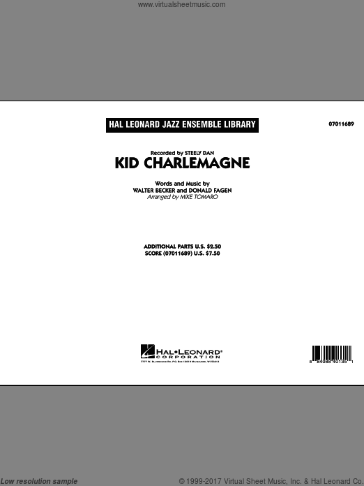 Kid Charlemagne (COMPLETE) sheet music for jazz band by Donald Fagen