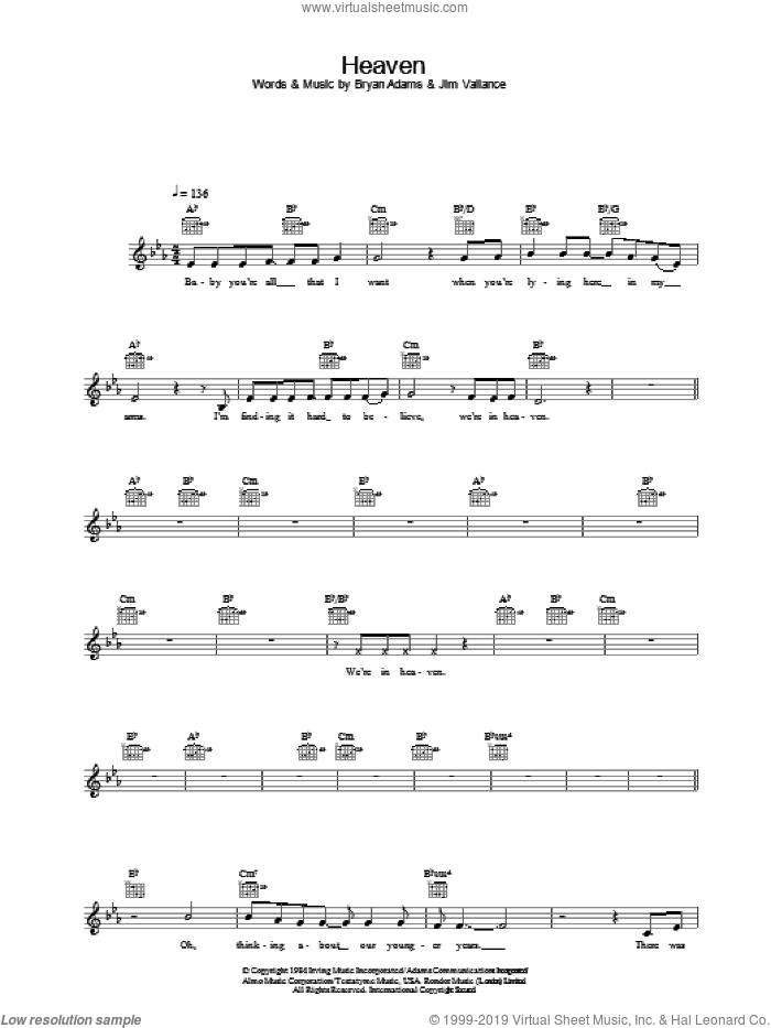 Heaven sheet music for voice and other instruments (fake book) by DJ Sammy. Score Image Preview.
