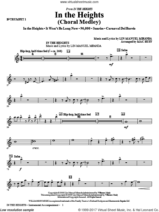 In The Heights (Choral Medley) (COMPLETE) sheet music for orchestra by Lin-Manuel Miranda