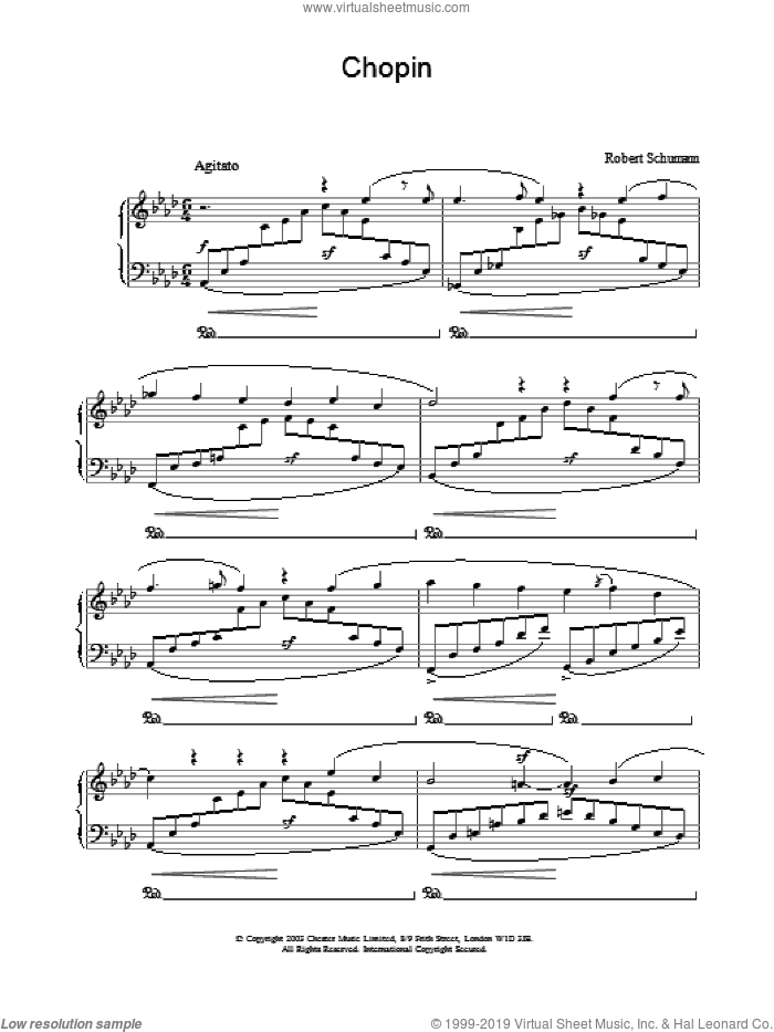 Chopin sheet music for piano solo by Robert Schumann, classical score, intermediate. Score Image Preview.