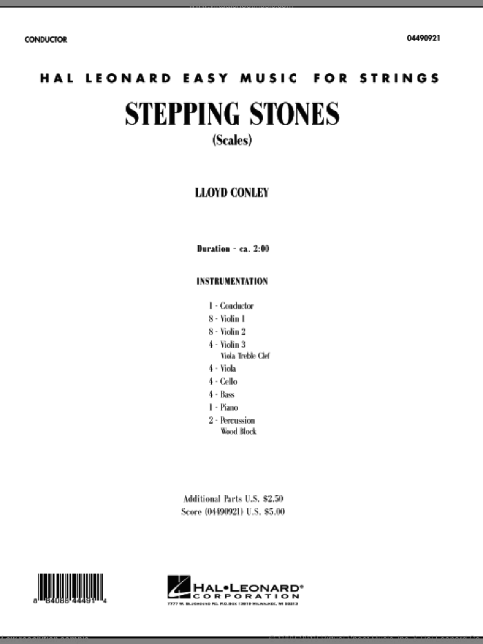 Stepping Stones (COMPLETE) sheet music for orchestra by Lloyd Conley, intermediate. Score Image Preview.