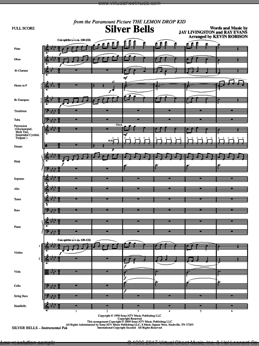 Silver Bells (COMPLETE) sheet music for orchestra by Jay Livingston