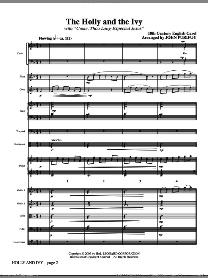 Holly And Ivy sheet music for orchestra/band (full score)