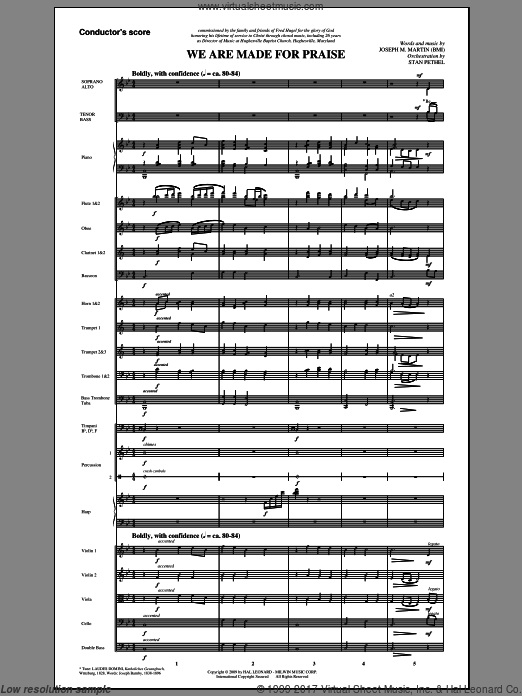 We Are Made For Praise (COMPLETE) sheet music for orchestra by Joseph M. Martin