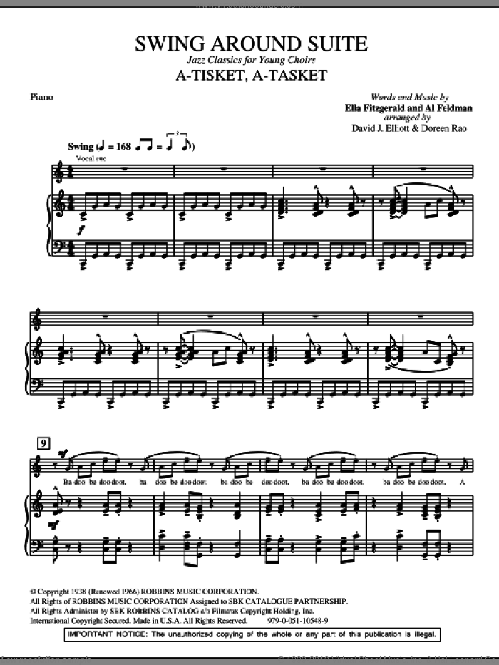 Swing Around Suite (complete set of parts) sheet music for orchestra/band by David Elliott, intermediate skill level