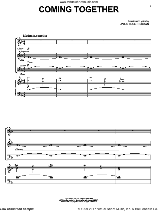 Coming Together (COMPLETE) sheet music for voice and piano by Jason Robert Brown