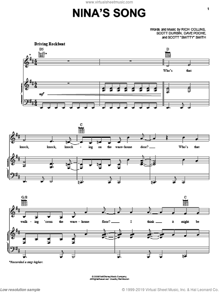 Nina's Song sheet music for voice, piano or guitar by Scott Durbin. Score Image Preview.