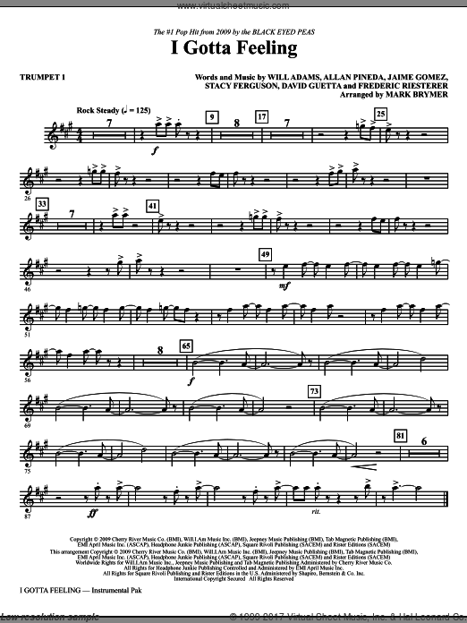 I Gotta Feeling (COMPLETE) sheet music for orchestra by Allan Pineda