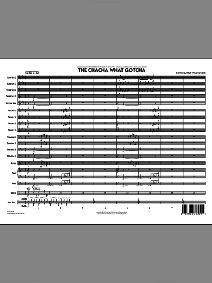 The Chacha What Gotcha (COMPLETE) sheet music for jazz band by Michael Philip Mossman, intermediate skill level