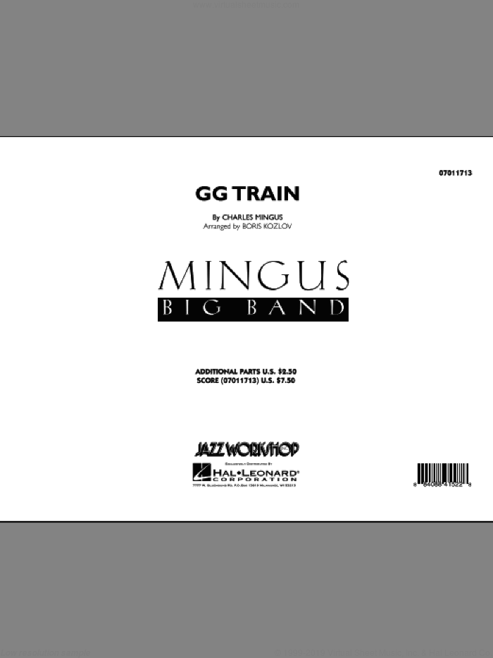 GG Train (COMPLETE) sheet music for jazz band by Charles Mingus and Boris Kozlov, intermediate skill level