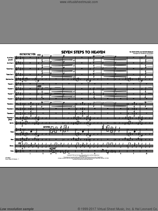 Seven Steps To Heaven, complete set of parts (COMPLETE) sheet music for jazz band by Miles Davis