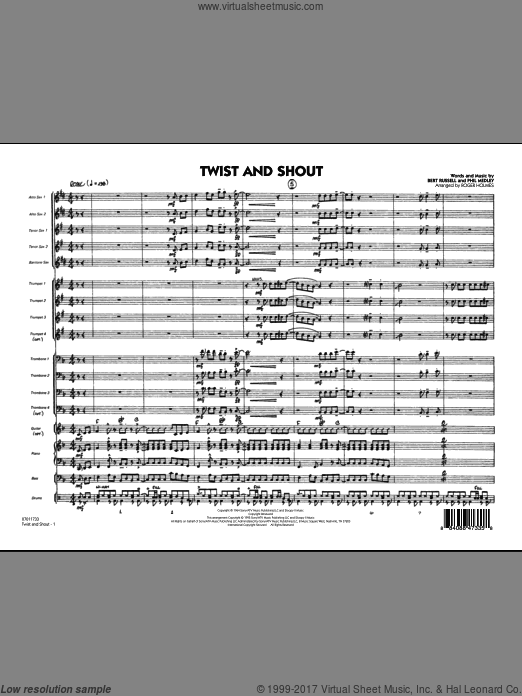 Twist And Shout (COMPLETE) sheet music for jazz band by Bert Russell