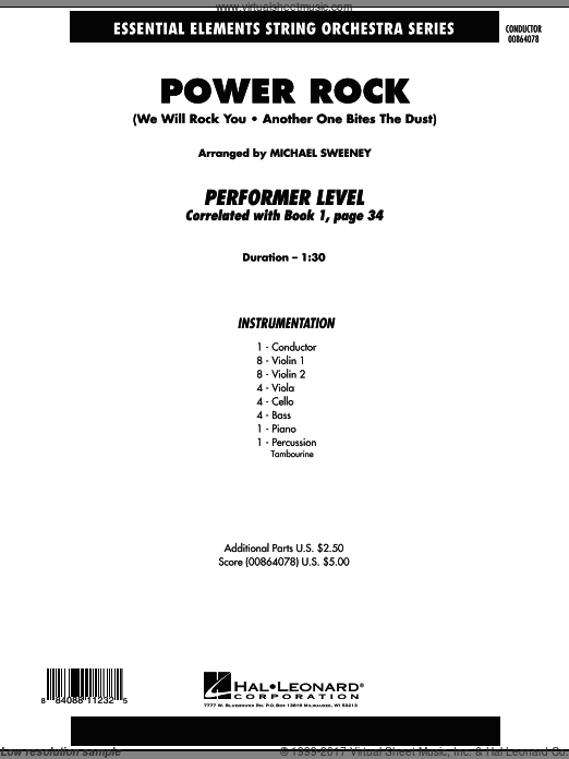 Power Rock (COMPLETE) sheet music for orchestra by Michael Sweeney