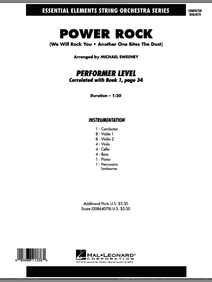 Power Rock (COMPLETE) sheet music for orchestra by Queen and Michael Sweeney, intermediate skill level