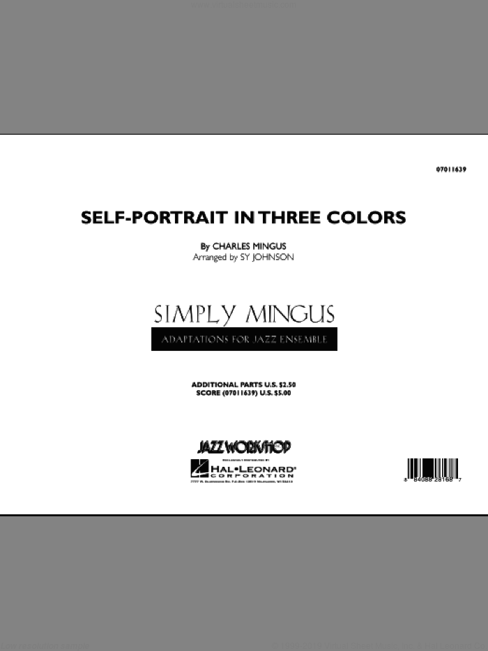 Self-Portrait In Three Colors (COMPLETE) sheet music for jazz band by Charles Mingus, intermediate jazz band. Score Image Preview.