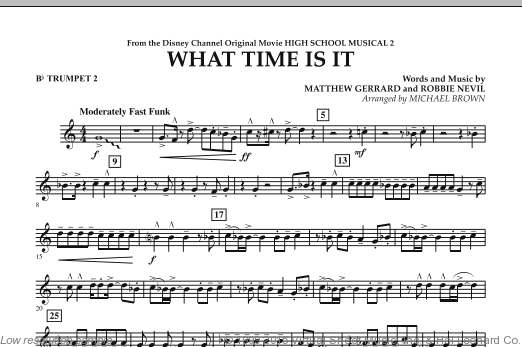 What Time Is It (from High School Musical 2) (COMPLETE) sheet music for concert band by Matthew Gerrard