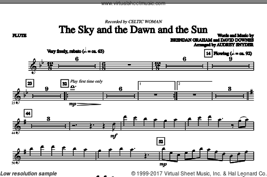 The Sky And The Dawn And The Sun (COMPLETE) sheet music for orchestra by Brendan Graham