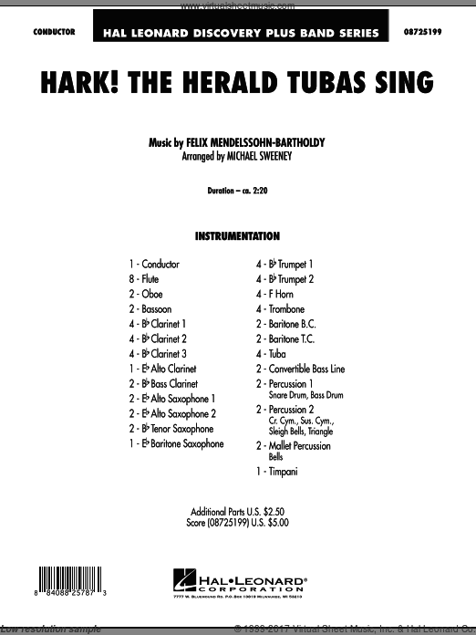 Hark! The Herald Tubas Sing (COMPLETE) sheet music for concert band by Michael Sweeney