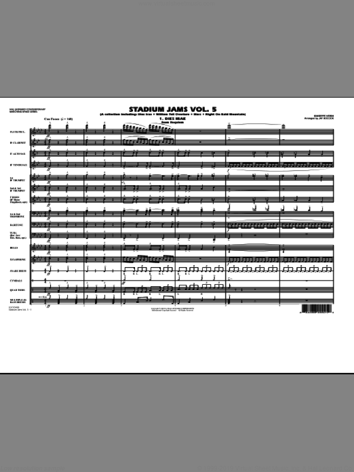 Stadium Jams: Vol. 5 sheet music for marching band (full score) by Jay Bocook