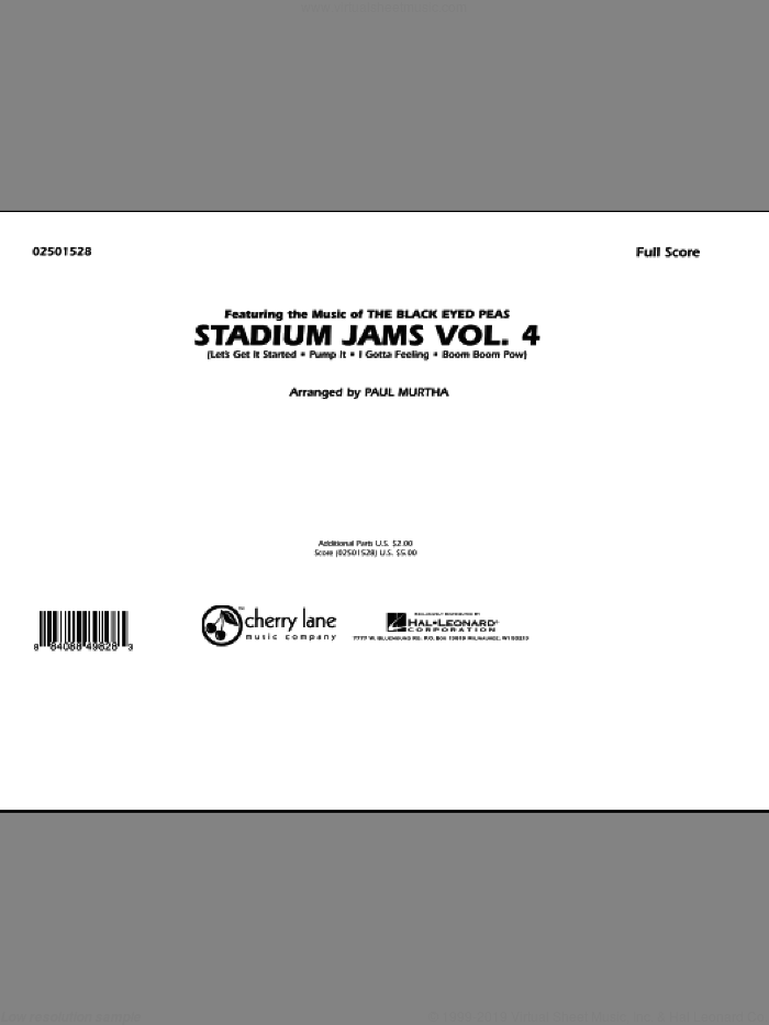 Stadium Jams: Vol. 4 (COMPLETE) sheet music for marching band by Paul Murtha, intermediate. Score Image Preview.