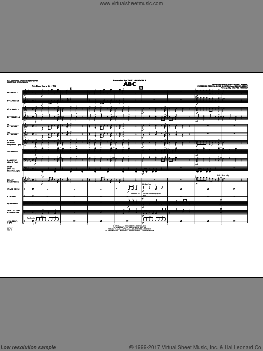 ABC (COMPLETE) sheet music for marching band by Alphonso Mizell
