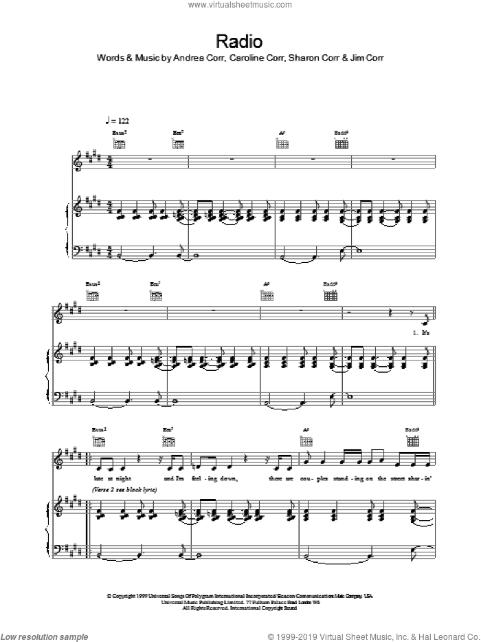 Radio #1 sheet music for voice, piano or guitar by Nicolas Godin