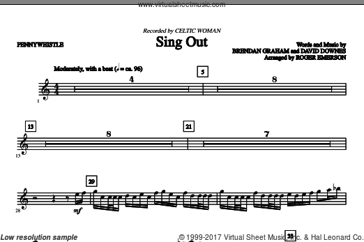 Sing Out (COMPLETE) sheet music for orchestra by Brendan Graham