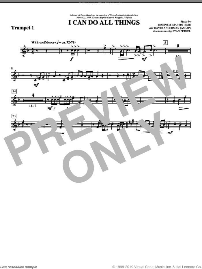 I Can Do All Things sheet music for orchestra/band (Bb trumpet 1) by David Angerman