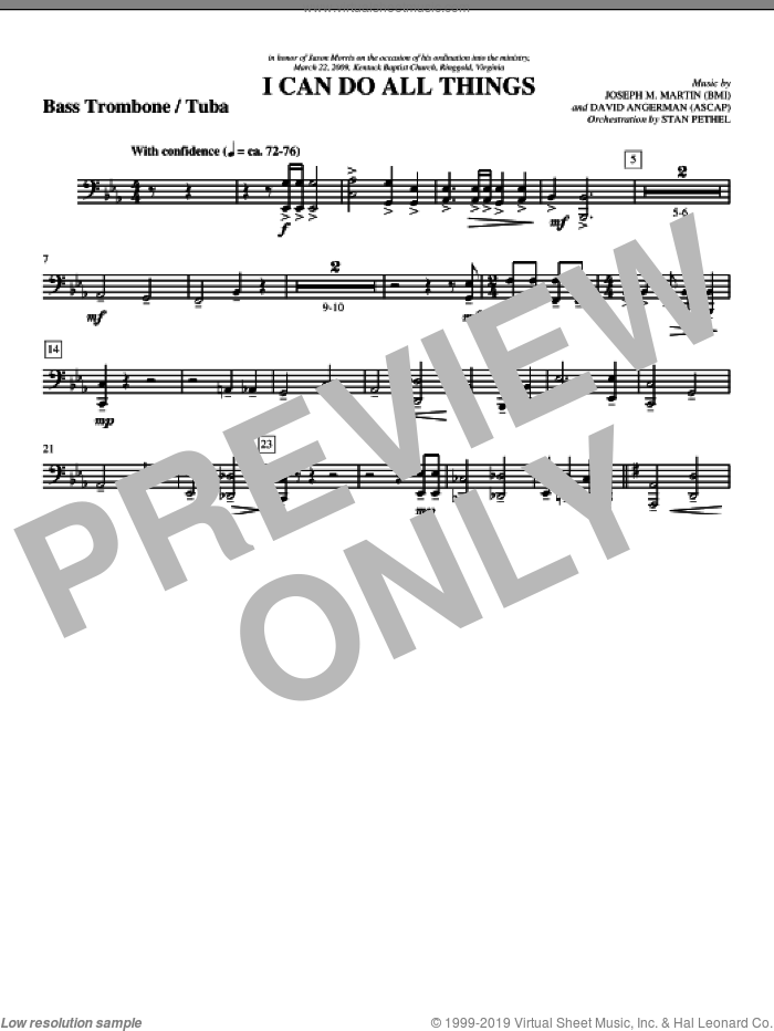 I Can Do All Things sheet music for orchestra/band (bass trombone/tuba) by David Angerman