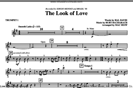 The Look Of Love (COMPLETE) sheet music for orchestra by Burt Bacharach