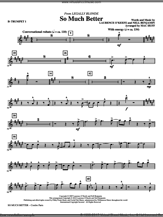 So Much Better (from Legally Blonde) (COMPLETE) sheet music for orchestra by Laurence O'Keefe