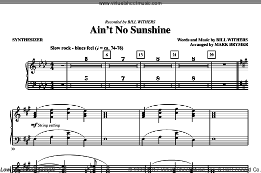 Ain't No Sunshine (COMPLETE) sheet music for orchestra by Mark Brymer