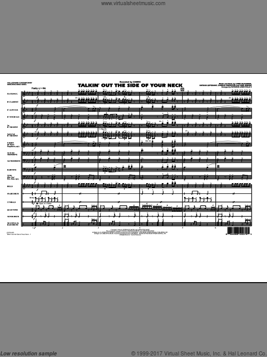 Talkin' Out The Side Of Your Neck (COMPLETE) sheet music for marching band by Charles Singleton