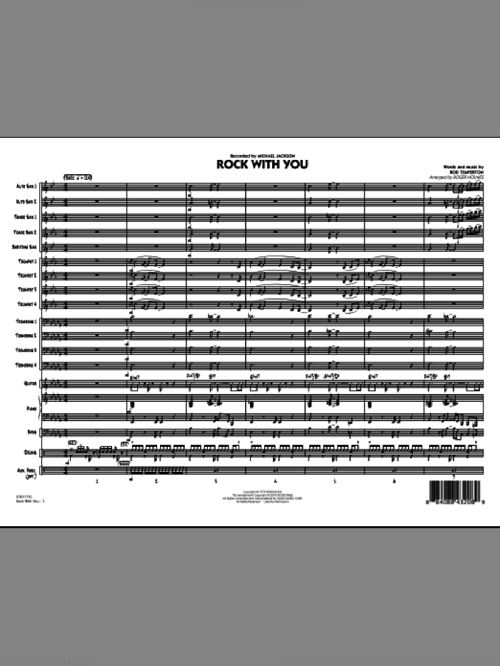 Rock With You (COMPLETE) sheet music for jazz band by Roger Holmes, Rod Temperton and Michael Jackson, intermediate skill level