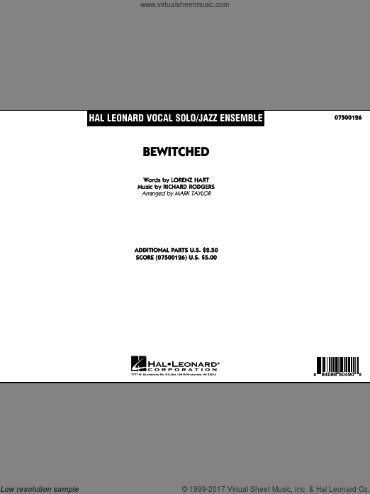 Bewitched (COMPLETE) sheet music for jazz band by Lorenz Hart