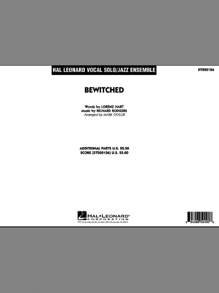 Bewitched, complete collection (COMPLETE) sheet music for jazz band by Richard Rodgers, Lorenz Hart and Mark Taylor, intermediate skill level